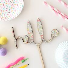 hello baby shower liberty print hello baby shower cake topper by cotton clara