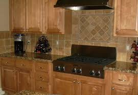 kitchen backsplash ideas black granite countertops wooden stained