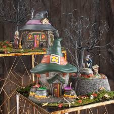 department 56 halloween village clearance snow village halloween three witches cauldron haunt department