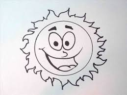 sun drawing coloring pages