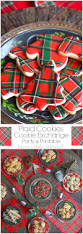 mad about plaid cookie exchange and plaid sugar cookies home