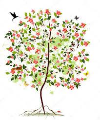 apple blossom tree stock vector oksana 3289159