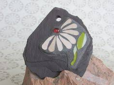 mosaic slate plaque wall decor small garden ornament