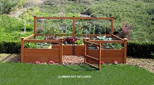 Deer Proof Fence For Vegetable Garden Amazon Com Just Add Lumber Vegetable Garden Kit 6 U0027x12 U0027 Deluxe