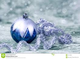 Christmas Decorations In Blue And Silver by Christmas Decorations Blue And Silver Stock Photo Image 35159880
