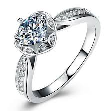 simulated engagement ring luxury 6 5mm simulated rings for sterling silver