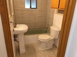 bathroom remodel kellogg house pedestal sink new tile in shower