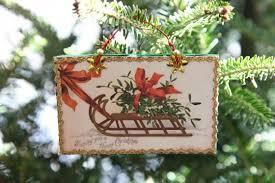 make vintage postcard ornaments crafts new today