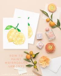 lemon yellow color cocktails watercolor tutorial series u2014 simply