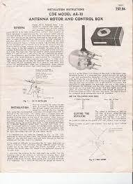 cornell dubilier electronics ar 10 antenna rotator service manual
