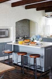 Kitchen Tiles Wall Designs Amazing Kitchen Features A Ceiling Accented With Rustic Wood Beams
