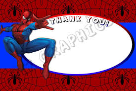spiderman 4x6 thank you card printable