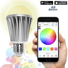 light bulbs controlled by iphone flux bluetooth smart led light bulb smartphone controlled