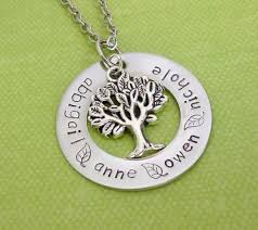 Mothers Necklace With Children S Names Trees Mothers And Mother Necklace On Pinterest