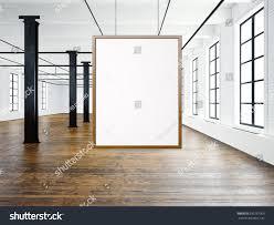 photo empty interior modern loft open stock illustration 390757060