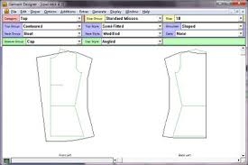 top pattern design software sewing two cowl neck top designs using garment designer software