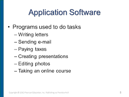 chapter 4 application software programs that let you work and