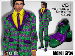 mardi gras suits second marketplace phunk mesh mardi gras suit oxfords