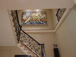 Stairs With Landing by Elegant Staircase Design With Landing Decor Combined Wrought Iron
