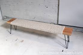 How To Make A Simple Wooden Bench - homemade modern ep28 wood wool bench