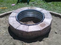 Fire Pit Gas Ring by Galvanized And Brick Fire Pit Ring Galvanized Fire Pit Ring