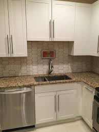 Grout Kitchen Backsplash Walter Zanger 6th Avenue Cocoon Tile With Chamois Grout Kitchen