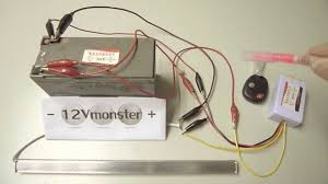 6 volt and 12 volt 1 channel remote control wireless switch set up