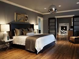Dark Grey Bedroom by Bedroom Warm Bedroom With Dark Gray Walls Glossy White Vanity