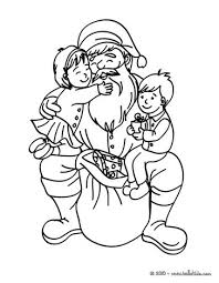 santa claus decorating christmas tree coloring pages