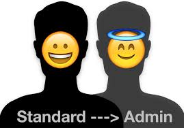 turn standard into administrator account in mac os x