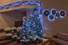 Blue And Silver Christmas Tree - elegant colors of purple christmas lights lgilab com modern