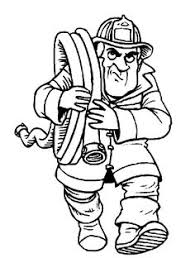fireman running coloring pages printables 2