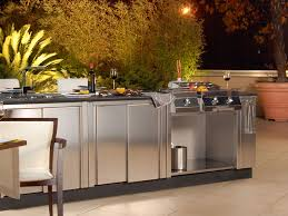 Outdoor Cabinets And Countertops Mesmerizing Outdoor Weatherproof Kitchen Cabinets With Stainless
