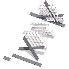 designband yoap diagonal bookshlef