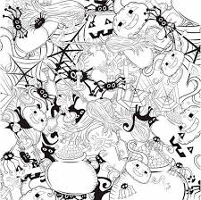 30 halloween coloring printables kids adults