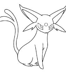 pokemon coloring pages espeon cartoon photos pokemon