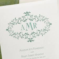 Monogram Wedding Invitations Monogram Wreath Wedding Invitation Little Flamingo