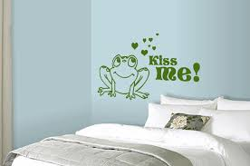 wall decals stickers home decor home furniture diy kiss me says the frog wall art sticker fairytale decal romantic mural wa303