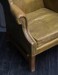 Leather Studded Armchair Vintage Furnishings