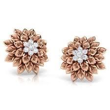 studs earrings dahlia stud earrings jewellery india online caratlane