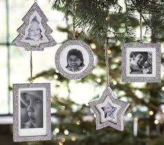 glitter frame ornaments pottery barn