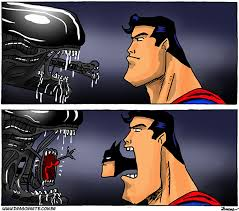 Super Man Meme - alien vs superman meme guy