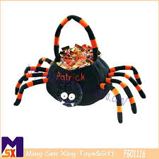 personalized plush halloween pumpkin basket classical orange plush
