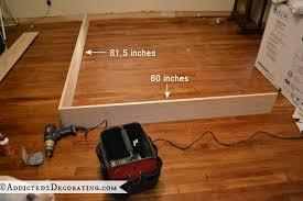 Wooden Bed Frame Parts Diy Stained Wood Raised Platform Bed Frame Part 1 Bed Frames