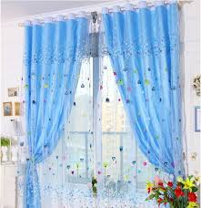 Blue Sheer Curtain Free Shipping Kid Sheer Curtain Fabric With Lining Curtains For