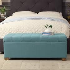 amazon com homepop laguna large tufted storage bench blue