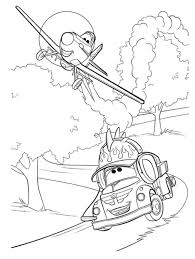 disney planes characters coloring pages
