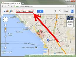 find maps how to find the gps coordinates of an address using maps