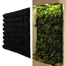 amazon com wall hanging planter grows bags awakingdemi vertical