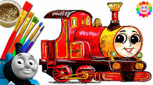how to draw thomas and friends trains for children video lady